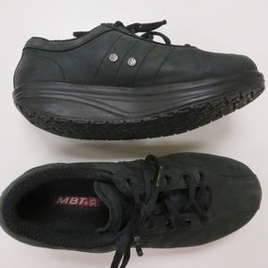 MBT Casual 01 Walking Shoes Black Leather Fitness